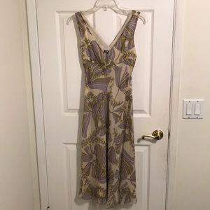 BCBG Paris silk dress 6P Floral MSRP $98